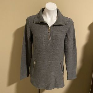 Soft Surroundings 1/4 zip gray pullover size small